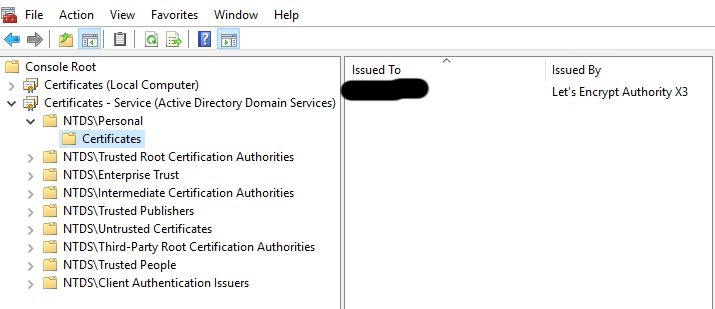 Active Directory LDAPS and Let's Encrypt it's possible!